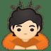 🙇🏻 person bowing: light skin tone Emoji on Google Platform