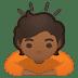 🙇🏾 person bowing: medium-dark skin tone Emoji on Google Platform