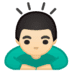 🙇🏻♂️ man bowing: light skin tone Emoji on Google Platform