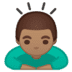 🙇🏽‍♂️ man bowing: medium skin tone Emoji on Google Platform