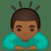 🙇🏾♂️ man bowing: medium-dark skin tone Emoji on Google Platform