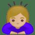 🙇🏼♀️ woman bowing: medium-light skin tone Emoji on Google Platform