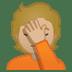 🤦🏼 person facepalming: medium-light skin tone Emoji on Google Platform