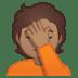 🤦🏽 person facepalming: medium skin tone Emoji on Google Platform