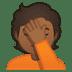 🤦🏾 person facepalming: medium-dark skin tone Emoji on Google Platform