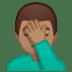🤦🏽♂️ man facepalming: medium skin tone Emoji on Google Platform