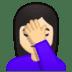 🤦🏻♀️ woman facepalming: light skin tone Emoji on Google Platform
