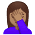 🤦🏽‍♀️ Medium Skin Tone Woman Facepalming Emoji on Google Platform