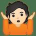 🤷🏻 person shrugging: light skin tone Emoji on Google Platform