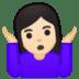 🤷🏻♀️ woman shrugging: light skin tone Emoji on Google Platform