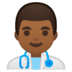 👨🏾‍⚕️ man health worker: medium-dark skin tone Emoji on Google Platform