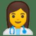 👩⚕️ woman health worker Emoji on Google Platform