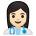 👩🏻‍⚕️ woman health worker: light skin tone Emoji on Google Platform