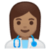 👩🏽‍⚕️ woman health worker: medium skin tone Emoji on Google Platform