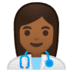 👩🏾‍⚕️ woman health worker: medium-dark skin tone Emoji on Google Platform