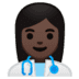 👩🏿‍⚕️ woman health worker: dark skin tone Emoji on Google Platform