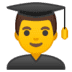 👨‍🎓 Male Student Emoji on Google Platform