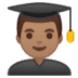 👨🏽‍🎓 Medium Skin Tone Male Student Emoji on Google Platform