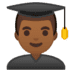 👨🏾‍🎓 man student: medium-dark skin tone Emoji on Google Platform
