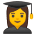 👩‍🎓 woman student Emoji on Google Platform