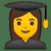 👩🎓 woman student Emoji on Google Platform