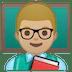 👨🏼🏫 man teacher: medium-light skin tone Emoji on Google Platform