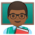 👨🏾‍🏫 man teacher: medium-dark skin tone Emoji on Google Platform