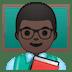 👨🏿🏫 man teacher: dark skin tone Emoji on Google Platform