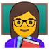 👩‍🏫 woman teacher Emoji on Google Platform