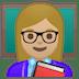 👩🏼🏫 woman teacher: medium-light skin tone Emoji on Google Platform