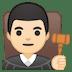👨🏻⚖️ man judge: light skin tone Emoji on Google Platform