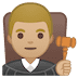 👨🏼‍⚖️ man judge: medium-light skin tone Emoji on Google Platform