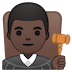 👨🏿‍⚖️ man judge: dark skin tone Emoji on Google Platform