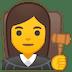 👩⚖️ woman judge Emoji on Google Platform