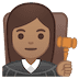 👩🏽‍⚖️ woman judge: medium skin tone Emoji on Google Platform