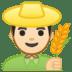 👨🏻🌾 man farmer: light skin tone Emoji on Google Platform