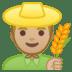 👨🏼🌾 man farmer: medium-light skin tone Emoji on Google Platform