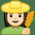 👩🏻🌾 woman farmer: light skin tone Emoji on Google Platform