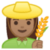 👩🏽‍🌾 woman farmer: medium skin tone Emoji on Google Platform