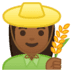 👩🏾‍🌾 woman farmer: medium-dark skin tone Emoji on Google Platform