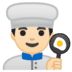 👨🏻‍🍳 man cook: light skin tone Emoji on Google Platform