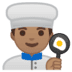 👨🏽‍🍳 man cook: medium skin tone Emoji on Google Platform