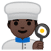 👨🏿‍🍳 man cook: dark skin tone Emoji on Google Platform