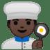 👨🏿🍳 Dark Skin Tone Male Chef Emoji on Google Platform