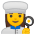 👩‍🍳 woman cook Emoji on Google Platform