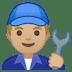 👨🏼🔧 Medium Light Skin Tone Male Mechanic Emoji on Google Platform