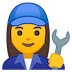 👩‍🔧 woman mechanic Emoji on Google Platform