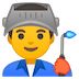 👨‍🏭 man factory worker Emoji on Google Platform