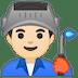 👨🏻🏭 man factory worker: light skin tone Emoji on Google Platform