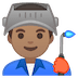 👨🏽‍🏭 man factory worker: medium skin tone Emoji on Google Platform